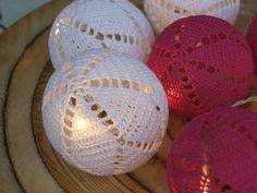 Virkatut valopallot Crochet Patterns, Xmas, Diy Crafts, Knitting, Creative Crafts, Bricolage, Crafting, Tricot, Crochet Pattern