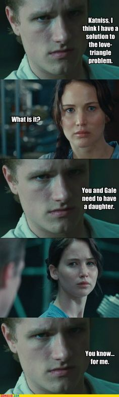 Peeta solving problems Twilight style- haha it's actually very disturbing isn't it?