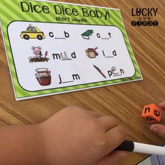 Short Vowel Word Work Mats by Lucky to Be in First