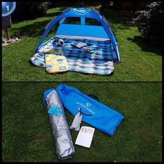 Strandmuschel inkl. UV-Schutz 30+ (Sonnenschutz) / Größe ca. 230x150x110cm in 4 modernen Farben mit Tragetasche