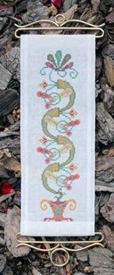 """Irish Springs"" is the title of this cross stitch pattern from Ink Circles that is stitched with DMC threads."
