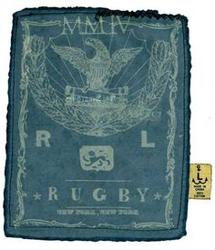 ROB HOWELL Printed Tee Shirt Label for RUGBY RALPH LAUREN