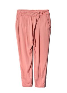 Pink+Mid+Waist+Pockets+Loose+Pant+US$34.26