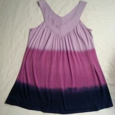 Ombre Tank Top This tank is super soft !!  Worn once and hand washed. The colors are Lilac, Magenta and Navy.  Brand is Pathway.  Bought at a local Boutique.... Sorry not Urban Outfitters only listed for exposure . Perfect Condition !! Urban Outfitters Tops Tank Tops