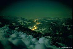 Das Tösstal bei Nacht.