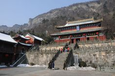 The Purple Cloud Monastery located in the Wudang Mountains