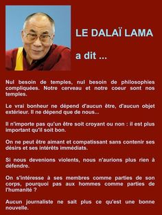 Quotes of the Dalai Lama My grimoire Citation Dalai Lama, Quote Citation, Never Stop Dreaming, Motivational Quotes For Students, French Quotes, Positive Attitude, Spiritual Quotes, Self Development, Positive Affirmations