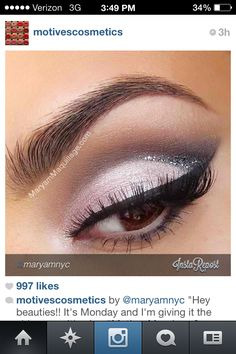 I like the subtle line of glitter-- but maybe with a different base, or a classic smokey eye (my specialty, haha)