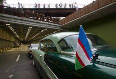 Apertura Túnel Avenida Colombia. Desfile de Carros Antiguos - Mayo - 16 - 2013