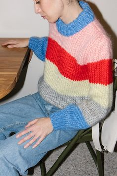 Ganni Julliard Mohair Sweater - Multi Stripe