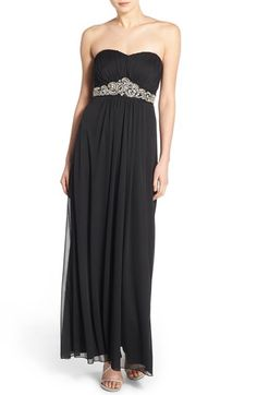 Trixxi 'Zoe' Beaded Strapless Gown available at #Nordstrom $88