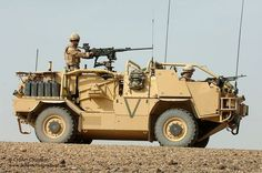A Jackal Armoured Vehicle is put through it's paces at Camp Bastion, Afghanistan.: