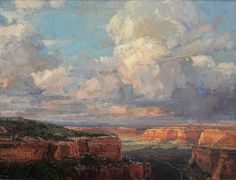 Colorado Monument - Oil by Kathryn Stats