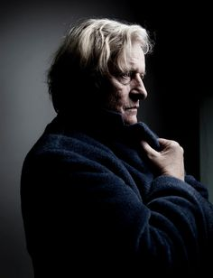 rutger hauer- wonderful lighting for a thoughtful portrait.