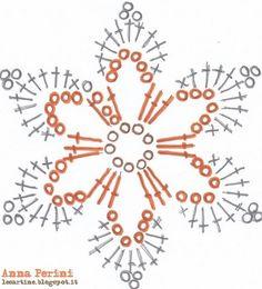 "Crochet Motif Image for ""crochet snowflakes free patterns"" Crochet Snowflake Pattern, Crochet Motifs, Crochet Stars, Christmas Crochet Patterns, Crochet Snowflakes, Crochet Flower Patterns, Crochet Diagram, Thread Crochet, Diy Crochet"