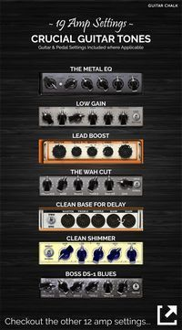 19 Guitar Amp Settings Diagrams with Pedal and Guitar Dials included, https://www.guitarchalk.com/guitar-amp-settings-guide/ #Guitar