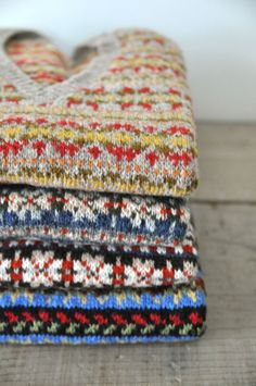 Fair Isle Sweaters from Anderson and Co http://www.shetlandknitwear.com/Home.aspx