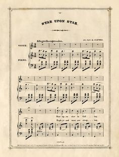 Star upon Star. Free Vintage Sheet Music download. Great for Christmas Crafts!
