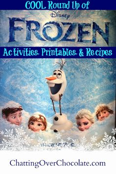 """COOL"" Round Up of Activities, Printables  Recipes Inspired by Disney's Frozen! 