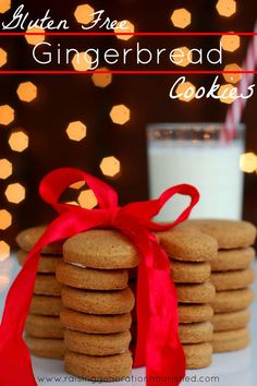 Gluten Free Gingerbread Cookies use earth balance, and maybe some coconut oil to make it dairy free.