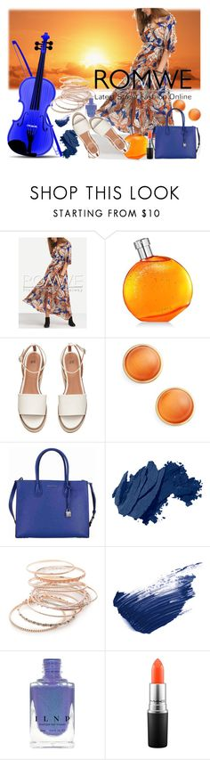 """""""Untitled #445"""" by kat-van-d ❤ liked on Polyvore featuring Hermès, Kate Spade, Michael Kors, Bobbi Brown Cosmetics, Red Camel, By Terry and MAC Cosmetics"""
