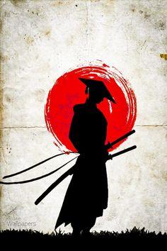 Japanese Art Samurai, Japanese Artwork, Japanese Tattoo Art, Japanese Painting, Ronin Samurai, Samurai Art, Red Wallpaper, Iphone Wallpaper, Samurai Wallpaper