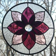 Purple Stained Glass Starburst Mandala by livingglassart home of oddballs and oddities, via Flickr