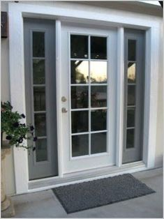 Exterior Only French Door House Exterior Only French Door – The exterior single French door is a great design for choosing the right door design ideas. French Doors With Sidelights, French Doors With Screens, French Doors Patio, Windows And Doors, French Patio, Minimalist House Design, Minimalist Home, Interior Barn Doors, Exterior Doors