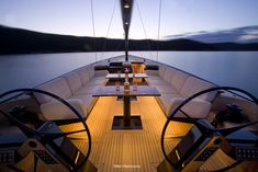 Sizzler: Flush-Deck Speedster. Hidden away in Idaho is Duane Hagadone's Sizzler, one of the most sophisticated daysailers ever built. Photographer Neil Rabinowitz takes us for a ride.