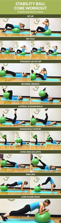 Stability Ball Core Workout #coreworkouts