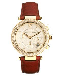 - Michael Kors - Parker MK2249 - Montre chronographe avec bracelet marrron