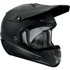 Thor Motocross Verge Solid Helmet 2014 Matte Black MX
