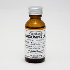 Vagabond Grooming Oil is an all-natural, multi-purpose, grooming oil with the soft, musky scent of sandalwood. It softens and moisturizes your beard, and helps make your beard more manageable  1 oz...