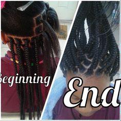 Rubber bands Box braids
