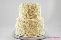 Rose Swirl Wedding Cake (Red Velvet)