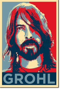 Dave Grohl Original Art Print  12x8 Inch Photo by QuoteArtisan