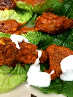 "Check these out! Homemade Vegan Buffalo Wings (""Multivores"" in the kitchen) from @jlgoesvegan"