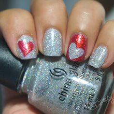 Valentines day nail designs with hearts