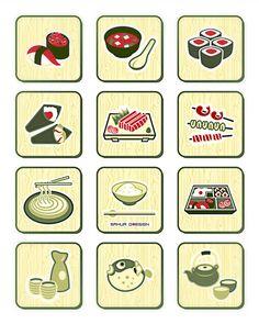Sushi-bar icons by sahua d