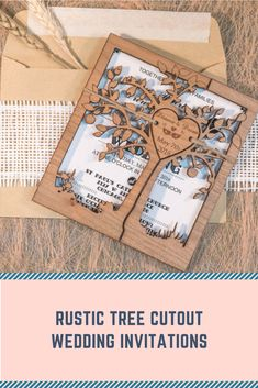love the added natural element in this rustic wedding invitation. #wedding #invitation #rustic #affiliate