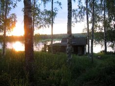 Suomalainen rantasauna / Finnish sauna by the lake-loved Finland, the people and the saunas when I lived there many, many summer's ago. Summer Breeze, Summer Nights, Finland Summer, Traditional Saunas, Outdoor Sauna, Finnish Sauna, Weekend House, Dusk To Dawn, Lake Cottage