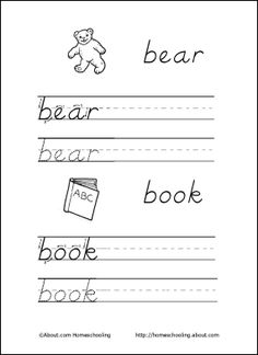 Learning To Write  Kindergarten Handwriting Learning And