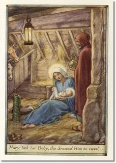 Cicely Mary Barker - A Little Book of Old Rhymes - As Joseph Was A-Walking Archival Fine Art Paper Print