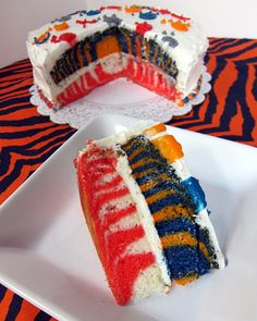 "Superbowl Cake -- Can't wait to make mine with the ""Blue & Orange"" VS ??"