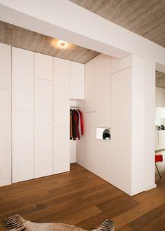 Cute Einbauschrank Wandschrank Flurschrank Garderobe lackiert Wandschrank u Einbauk che Pinterest Wardrobes