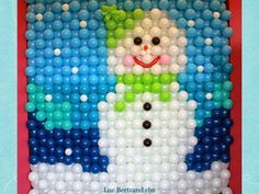 The Very Best Balloon Blog: A Wonderful Step by Step Snowman Balloon Wall from Luc Bertrand CBA