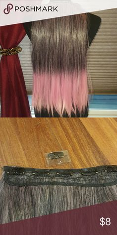 Purple/pink ombre hair extentions Purple to pink ombre hair/wig extention High quality 100% Japanese  high temperature resistance fibers Length approx 25in Width approx 10in Combat style snap clips...comes with one extra  New without tags Accessories Hair Accessories