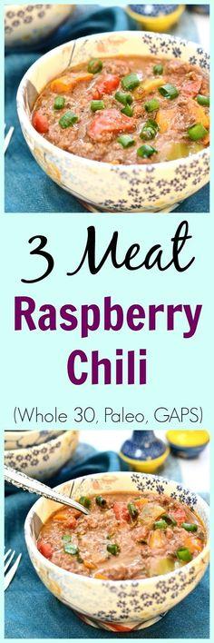 Pure and Simple Nourishment : Three Meat Raspberry Chili (Paleo, GAPS, SCD, Whole 30)