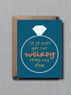 A wedding card for the lovestruck weirdos in your life | blacklabstudio/Etsy