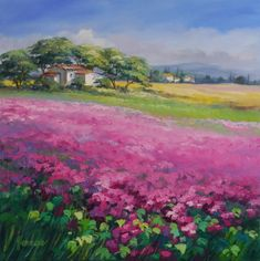 Leuchtende Landschaftsbilder malen, die Farben einzufangen und in Ölbildern festzuhalten ist die Leidenschaft der Künstlerin Ute Herrmann.